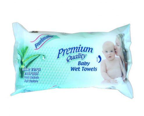 freshmaker servetele umede 72 buc pentru nou nascuti cu aloe vera
