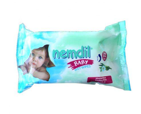 nemdil servetele umede 72 buc pentru nou nascuti