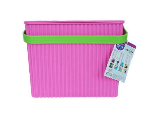 parex -galetusa plastic colorata roz maner verde